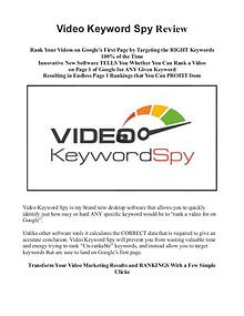 Video Keyword Spy Review