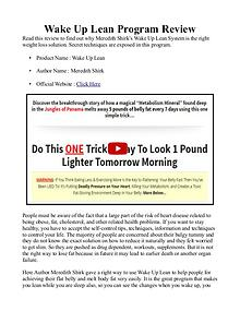 Wake Up Lean PDF / Book, Program Review