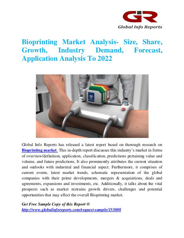 Global Info Research- market Research Reports Bioprinting Market