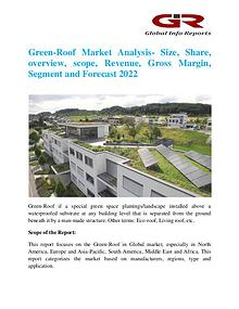 Global Info Research- market Research Reports Green-Roof Market