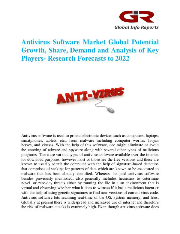 Global Info Research- market Research Reports Antivirus Software Market
