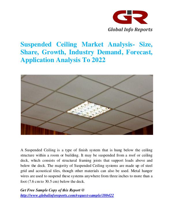 Global Info Research- market Research Reports Suspended Ceiling Market