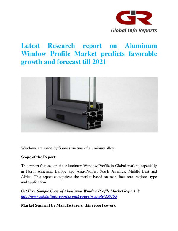 Global Info Research- market Research Reports Aluminum Window Profile Market