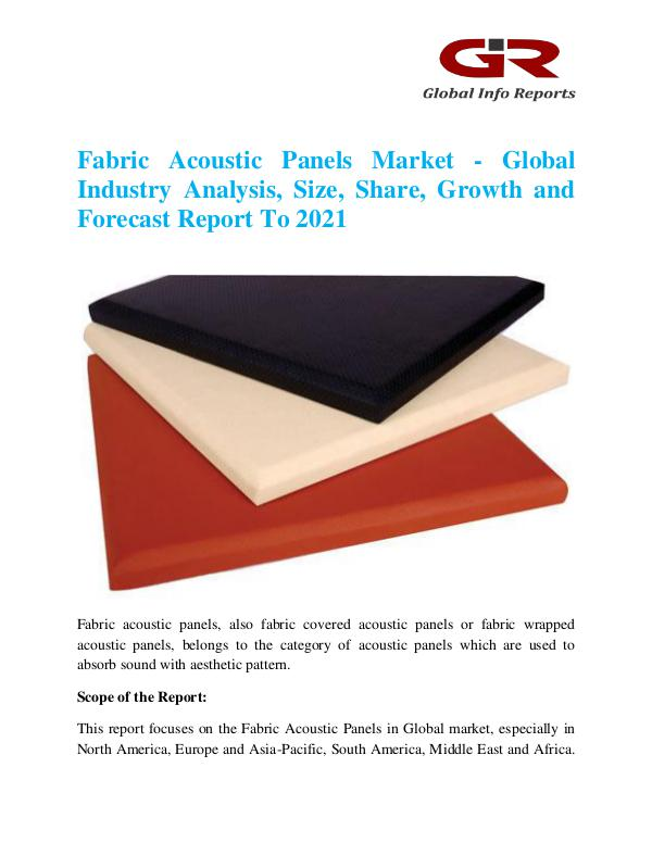 Global Info Research- market Research Reports Fabric Acoustic Panels Market