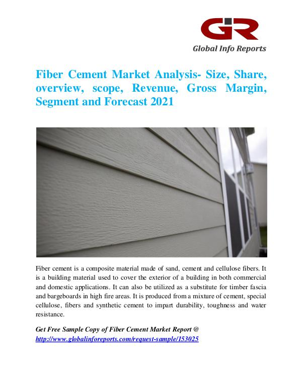 Global Info Research- market Research Reports Fiber Cement Market