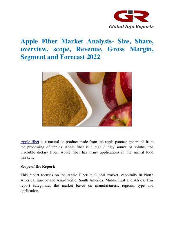 Global Info Research- market Research Reports Apple Fiber Market