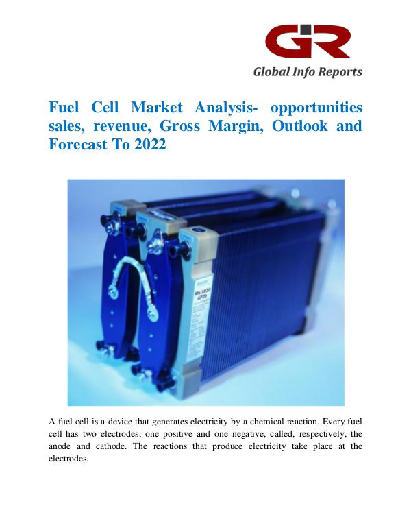 Global Info Research- market Research Reports Fuel Cell Market