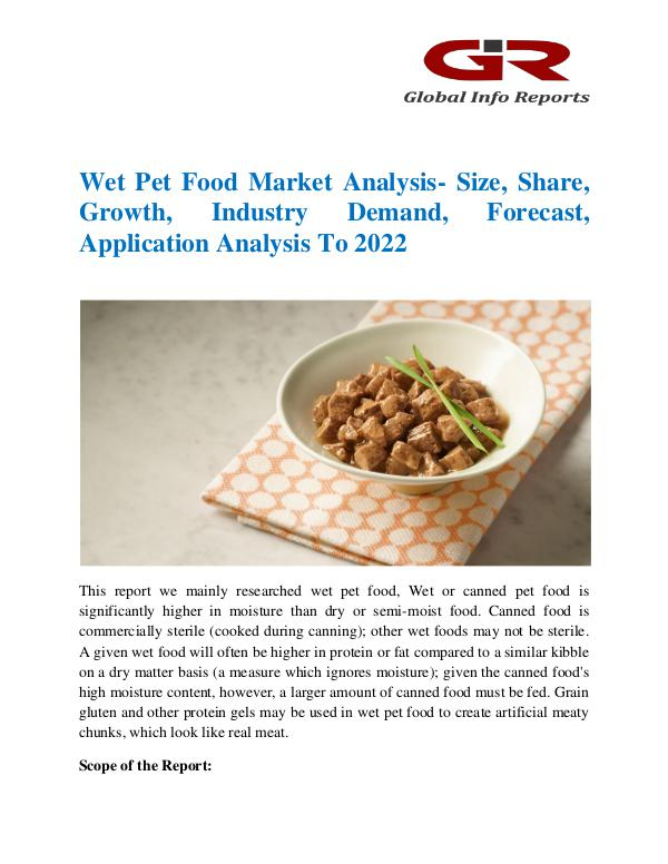 Global Info Research- market Research Reports Wet Pet Food Market