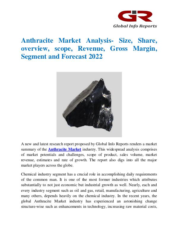 Global Info Research- market Research Reports Global Anthracite Market