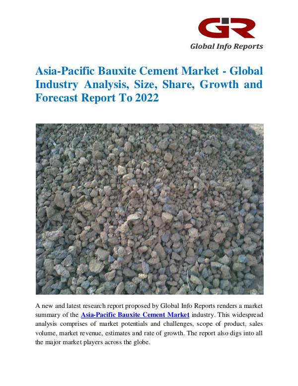 Global Info Research- market Research Reports Asia-Pacific Bauxite Cement Market