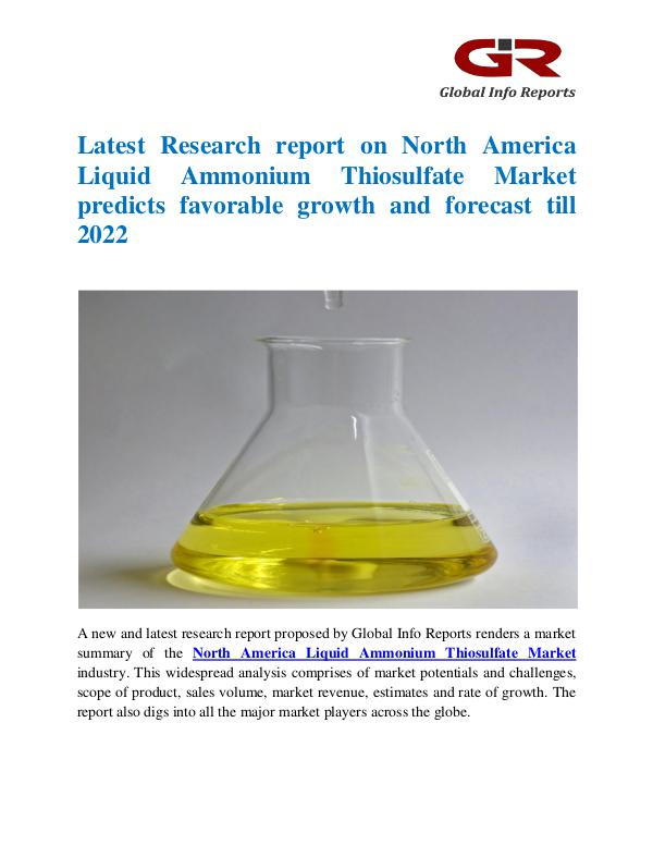 Global Info Research- market Research Reports North America Liquid Ammonium Thiosulfate Market