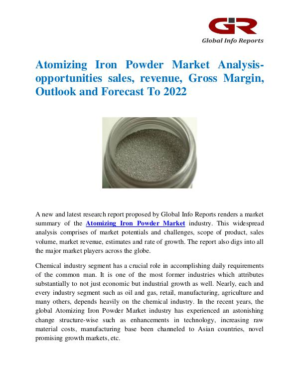 Atomizing Iron Powder Market
