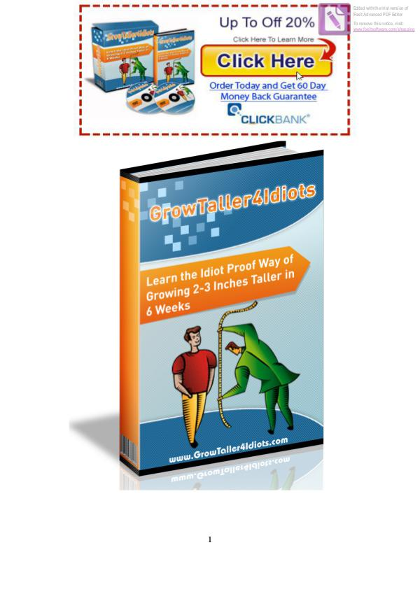 Grow Taller 4 Idiots PDF / eBook Exercise Free Download Full Version Darwin Smith
