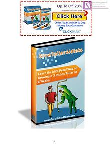 Grow Taller 4 Idiots PDF / eBook Exercise Free Download