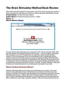 Brain Stimulator method PDF / Guide