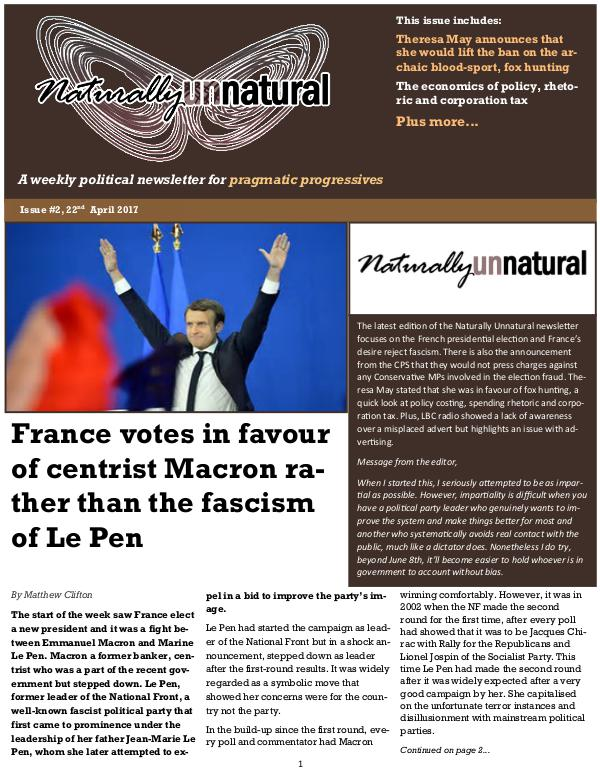 Naturally Unnatural Issue #5 13th May 2017
