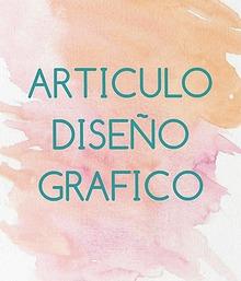 ARTICULO DISEÑO GRAFICO