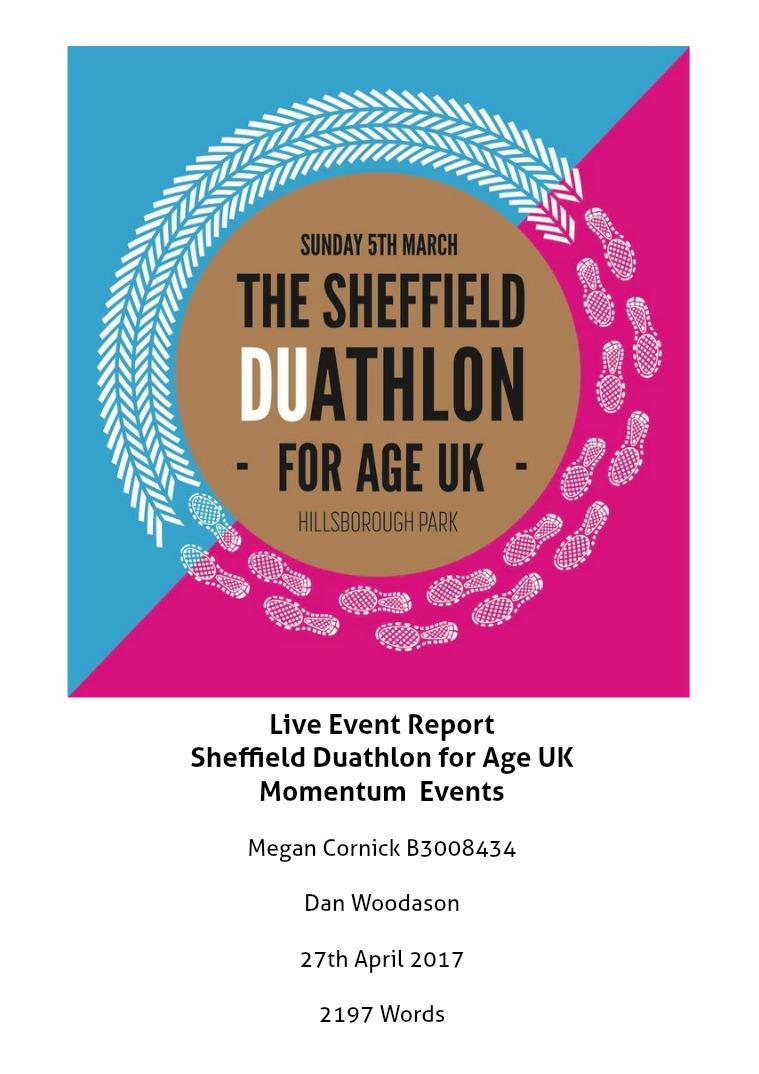 Live Event Report Sheffield Duathlon for Age UK
