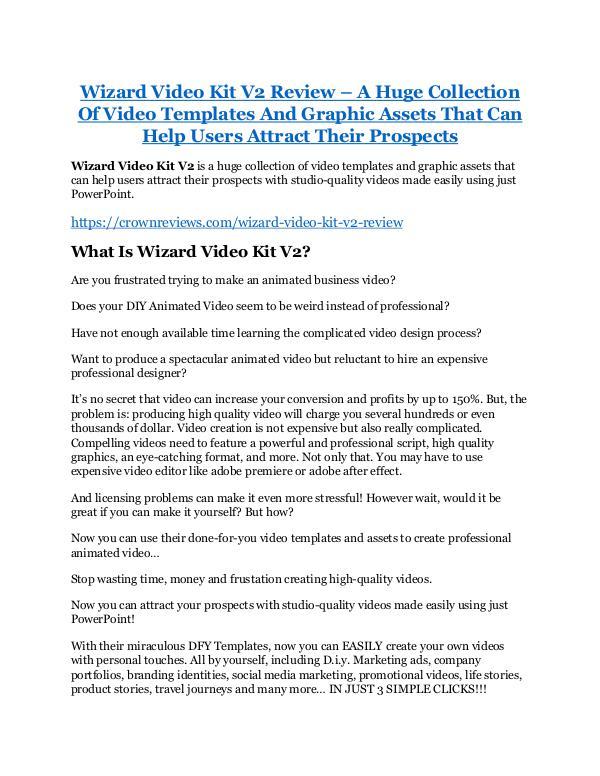 Wizard Video Kit V2 Review & GIANT Bonus