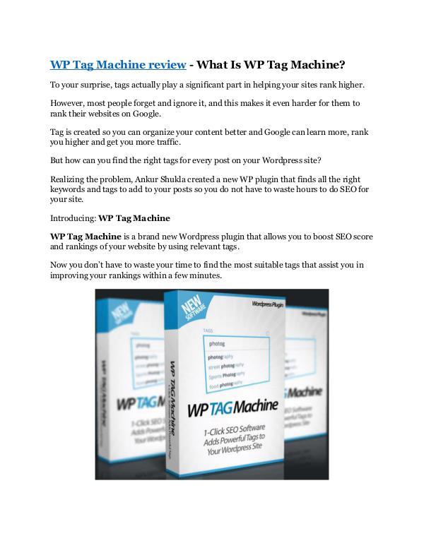WP Tag Machine Review-$32,400 bonus & discount
