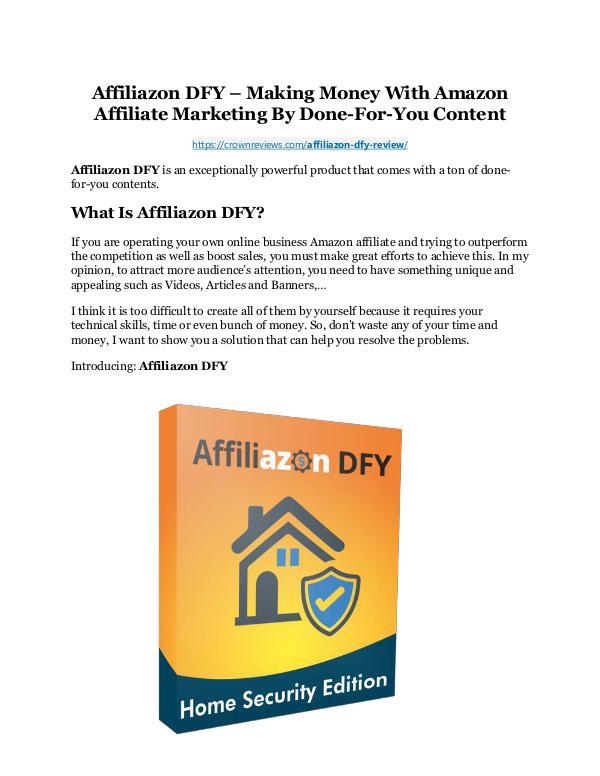 Affiliazon DFY Review demo - $22,700 bonus Affiliazon DFY Review and $30000 Bonus - Affiliazo