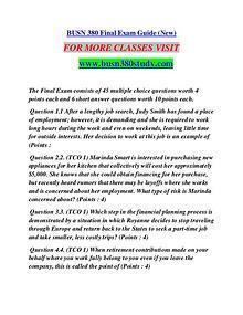 BUSN 380 STUDY Learn Do Live /busn380study.com