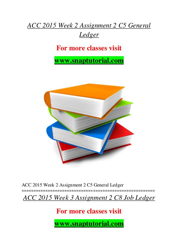ACC 2015 help A Guide to career/Snaptutorial ACC 2015 help A Guide to career/Snaptutorial