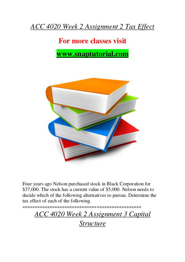ACC 4020 help A Guide to career/Snaptutorial ACC 4020 help A Guide to career/Snaptutorial