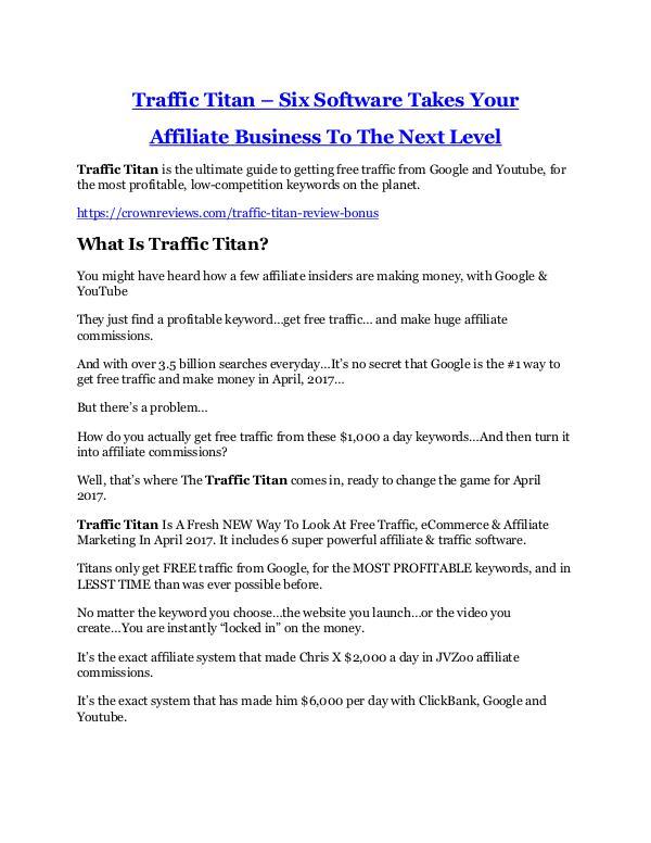 Marketing Traffic Titan Review & (BIGGEST) jaw-drop bonuses