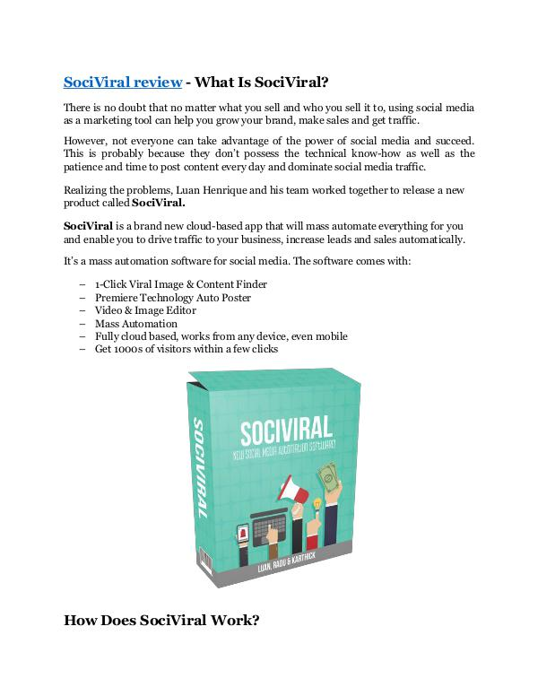 Marketing SociViral review-(MEGA) $23,500 bonus of SociViral