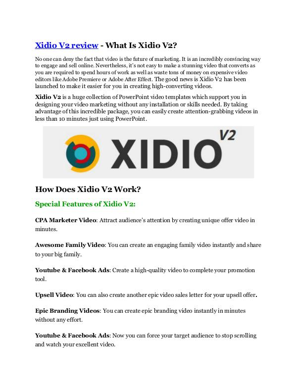 Marketing Xidio V2 review-(MEGA) $23,500 bonus of Xidio V2