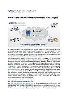 How C4R and BIM 360 Provide Improvements to AEC Projects