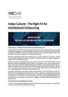 Indian Culture – The Right Fit for Architectural Outsourcing
