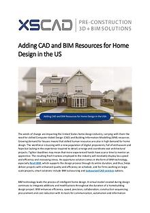 Adding CAD and BIM Resources for Home Design in the US