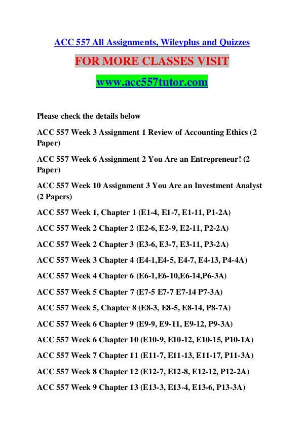 ACC 557 TUTOR Great Stories /acc557tutor.com ACC 557 TUTOR Great Stories /acc557tutor.com