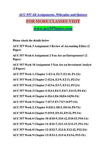 ACC 557 TUTOR Great Stories /acc557tutor.com