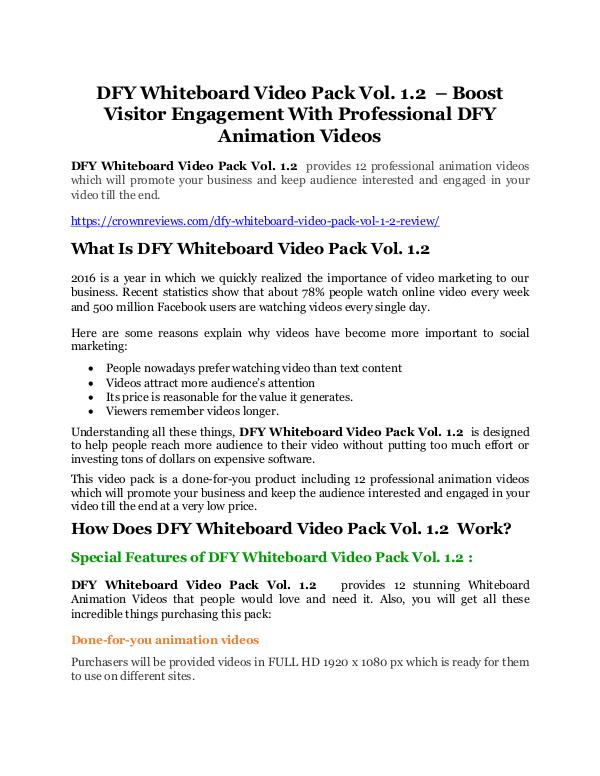DFY Whiteboard Video Pack Vol. 1.2 REVIEW - DEMO of DFY Whiteboard Video Pack Vol. 1.2 DFY Whiteboard Video Pack Vol. 1.2 Review-MEGA $22