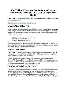 Viral Video FX review & Viral Video FX (Free) $26,700 bonuses
