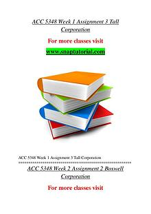 ACC 5348 help A Guide to career/Snaptutorial
