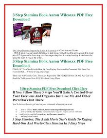 3 Step Stamina  PDF Free Download