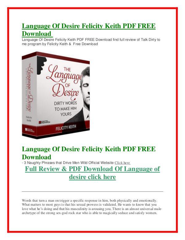 Language Of Desire PDF Free Download Language Of Desire PDF Free Download