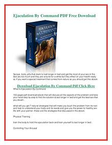 Lloyd Lester :Ejaculation By Command PDF (eBook) Review