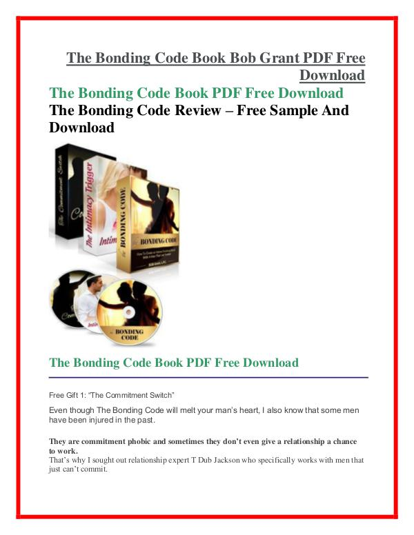 The Bonding Code  PDF Free Download The Bonding Code PDF Free Download