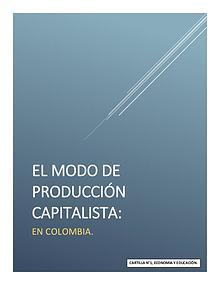 Cartilla: Modo de producción capitalista en Colombia