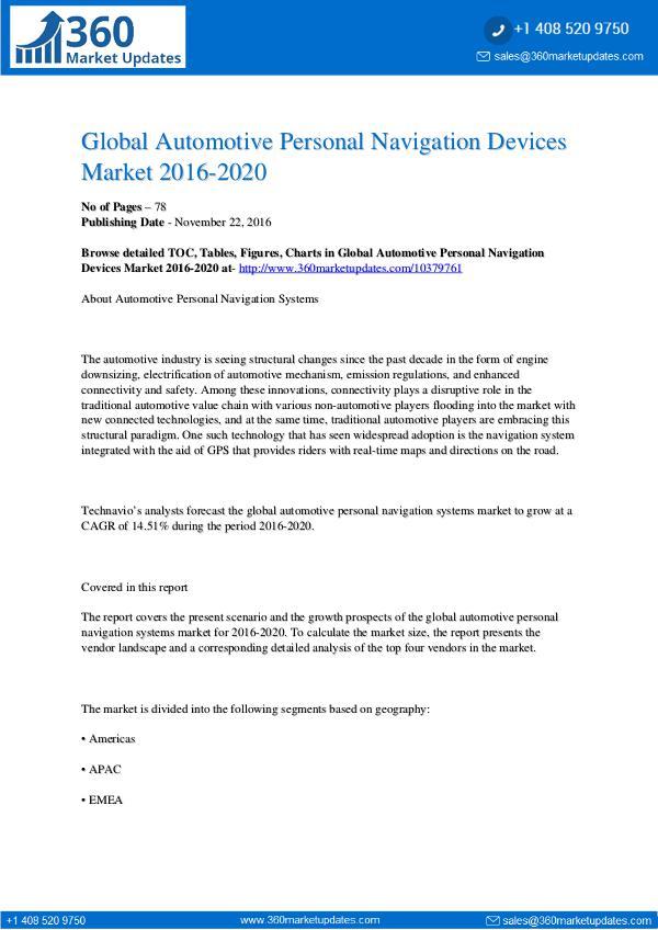 Automotive Personal Navigation Devices Market Automotive-Personal-Navigation-Devices-Market-2016