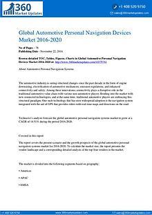 Automotive Personal Navigation Devices Market