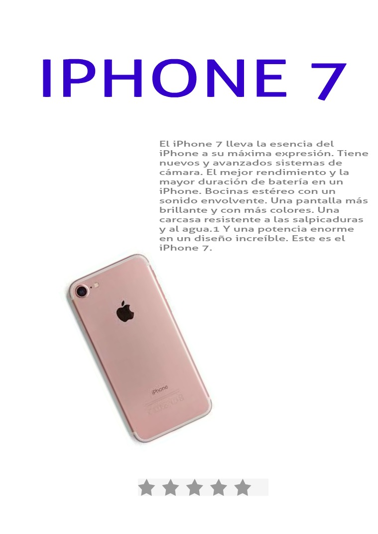 IPHONE 7 Nueva Version de Iphone