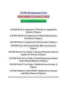CIS 502 MENTOR Learn Do Live /cis502mentor.com