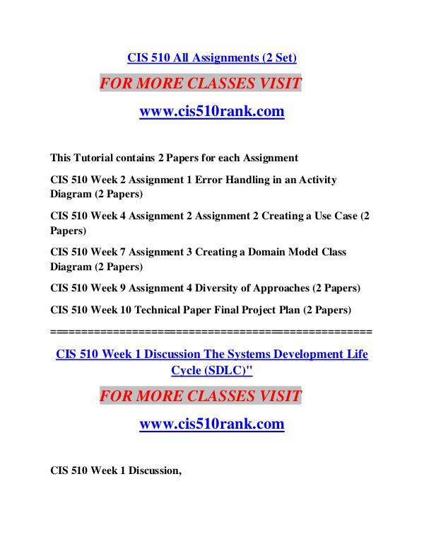 CIS 510 RANK Learn Do Live /cis510rank.com CIS 510 RANK Learn Do Live /cis510rank.com