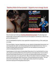 Donkey Male Enhancement - Massive and throw muscle growth